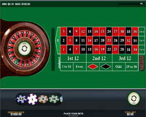 Roulette francese in 23387